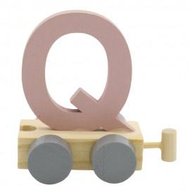 Treinletter Q roze