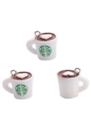 Kunststof hanger/bedel cappuccino