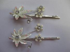 Haarschuifjes kastanjeblad zilver (15)