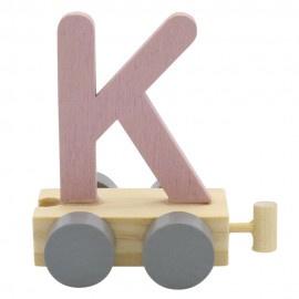 Treinletter K roze
