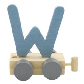 Treinletter W blauw