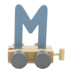 Treinletter M blauw