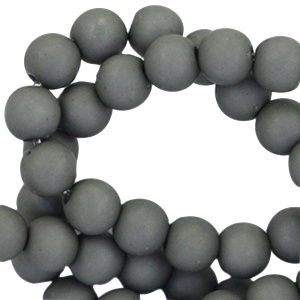 8 mm kraal van acryl dark grey