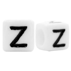 Acryl letterkraal wit Z (vierkant)