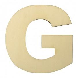 Houten plakletter G