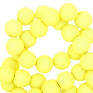 8 mm kraal van acryl sunny fluor yellow