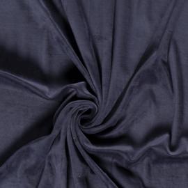 Nicky velours donkerblauw (008)