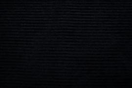Aankleedkussenhoes tricot rib zwart