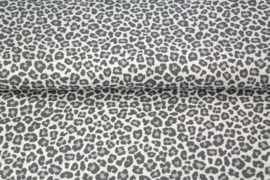 (V) Katoen panterprint grijs