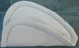 Boxkleed driehoek wafelkatoen 100 cm