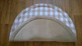 Boxkleed rond nicky velours/grote ruit