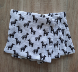 Hydrofiele washandjes set van 4 stuks zebra's