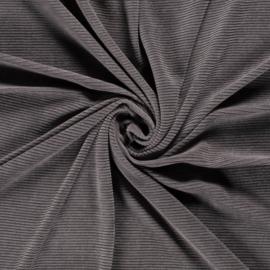 Rib velours grijs (061)