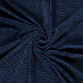 Rib velours blauw (006)
