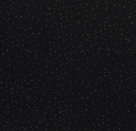 Hoeslaken rond boxmatras hydrofielstof zwart met gouden stippen