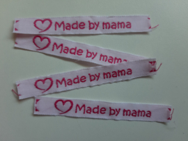 (V) Label made by mama wit/fuchsia