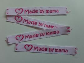 Label made by mama wit/fuchsia