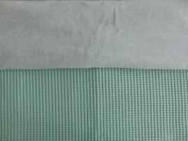 Dekentje wafelkatoen/katoenfleece 75  x 100 cm