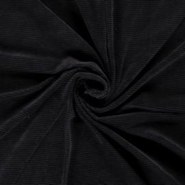 Rib velours donkerblauw (008)