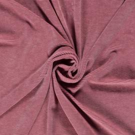 Rib velours blush (014)