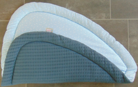 Boxkleed driehoek grove wafelkatoen/katoen triangel 100 cm
