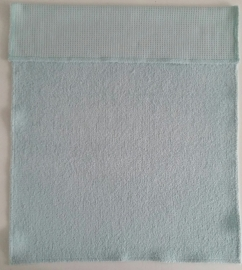 (V) Dekentje wafelbadstof mintgroen 60 x 80 cm
