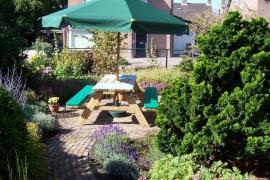 Kussenset uni stof voor picknickbank 178 x 24 x 5 cm