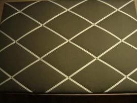 Memobord 80 x 120 cm grijs/lichtgrijs