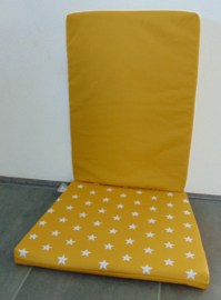 Kussenset schommelstoel ster/uni