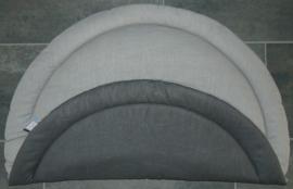 Boxkleed rond uni linnen/ramie