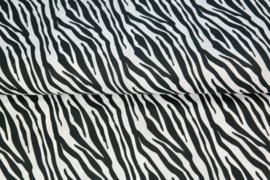 Katoen zebraprint wit/zwart