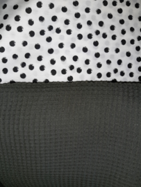 Lakentje nop wit/zwart