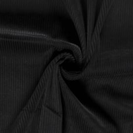 Ribcord grof zwart (069)
