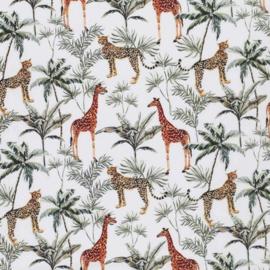 Katoen luipaard en giraf