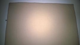 (V) Dekentje wafel/fleece beige/donkergrijs 60 x 80 cm