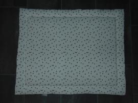 Boxkleed strikjes off-white/zwart en fur niply