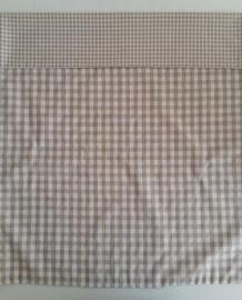(V) Dekbedovertrek 60 x 80 cm kleine en middelgrote ruit beige