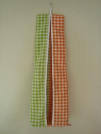 (V) Luierzak 2 kleuren ruit lime/ oranje