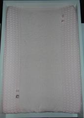 Aankleedkussenhoes grove wafelkatoen/badstof/labeltjes