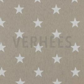 Boxkleed rond grove wafelkatoen/ katoen grote sterren