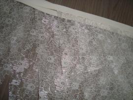 Stoffen slinger kant creme 6 meter