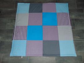 Speelkleed paars/turquoise/grijs