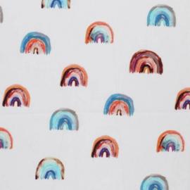 Matras werpkist katoen regenboog 39 x 59 cm