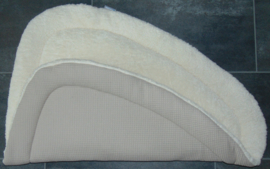 Boxkleed driehoek teddy katoen/ wafelkatoen