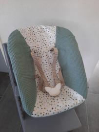 Stokke newborn hoes wafelkatoen/ katoen stippen off-white