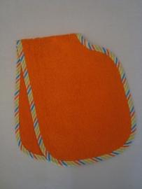 (V) Spuugdoek dubbel oranje/multi