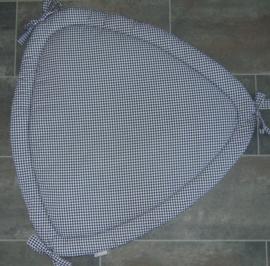 Boxkleed driehoek wafelkatoen /ruit 100 cm