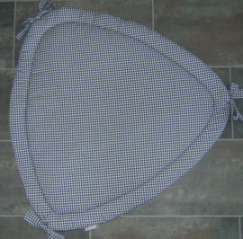 Boxkleed driehoek geruit 100 cm