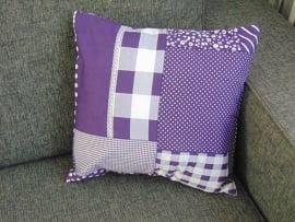 Kussenhoes patchwork 40 x 40 cm