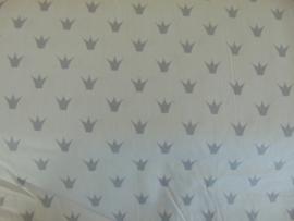 Katoen kroontjes lichtgrijs/grijs